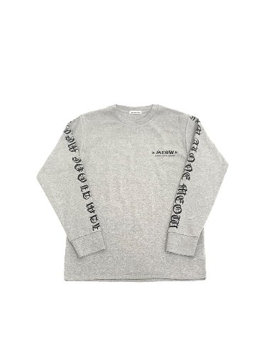 LETTERING LONG SLEEVE _ GRAY