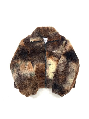 TIE-DYE FREECE JK _ BROWN